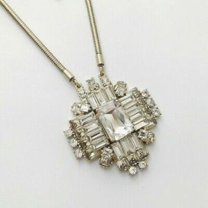 J Crew Crystal Pendant Necklace